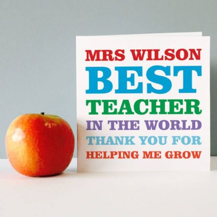 Personalised Best Teacher In The World Card